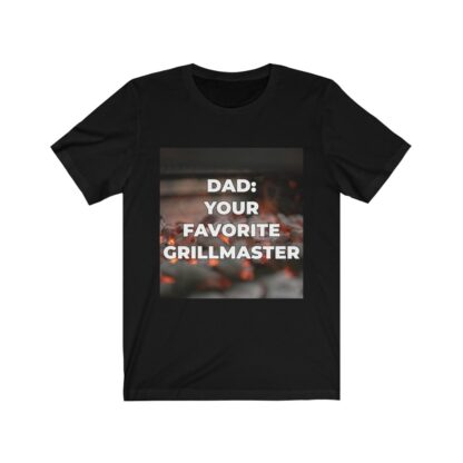 Dad, Your Favorite Grillmaster (Charcoal Background) Black T-Shirt