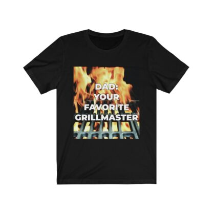 Dad, Your Favorite Grillmaster (Flame Background) Black T-Shirt