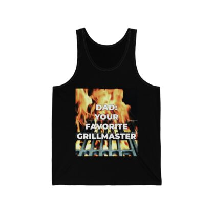 Dad, Your Favorite Grillmaster (Flame Background) Black Tank Top