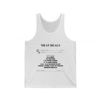 Meat Heals White Tank Top