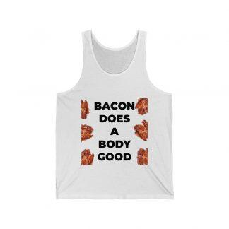 Bacon Does A Body Good White Tank Top