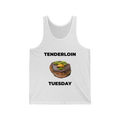 Tenderloin Tuesday White Tank Top