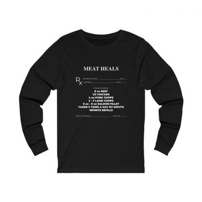 Meat Heals Black Long-Sleeve T-Shirt