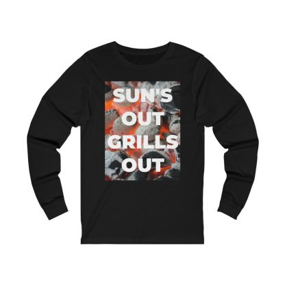 Sun's Out, Grills Out Black Long-Sleeve T-Shirt