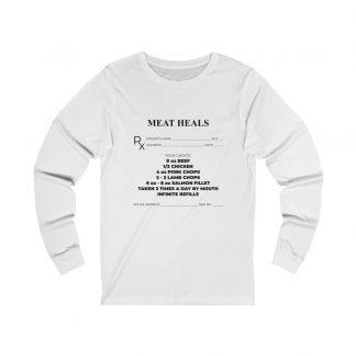 Meat Heals White Long-Sleeve T-Shirt