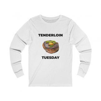 Tenderloin Tuesday White Long-Sleeve T-Shirt