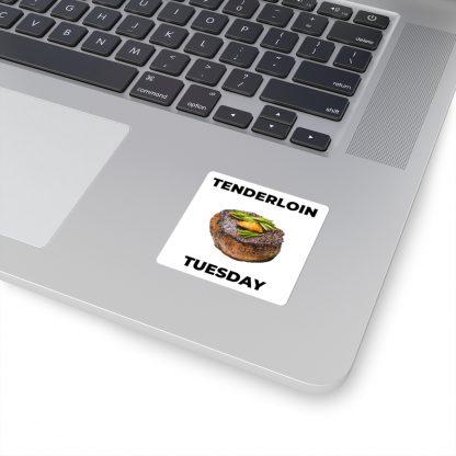 Tenderloin Tuesday Sticker On Laptop