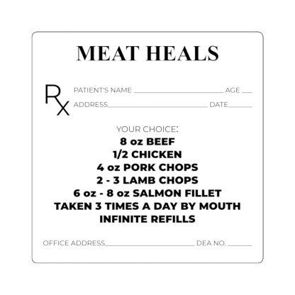 Meat Heals Sticker