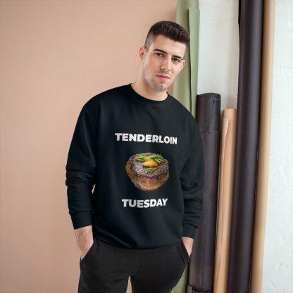 Tenderloin Tuesday Black Sweatshirt Male Model