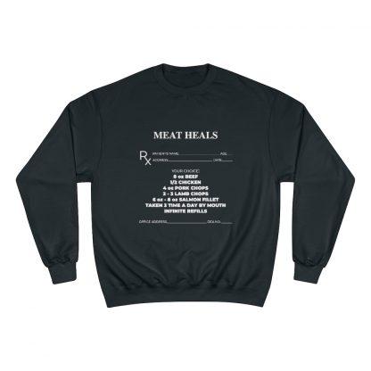 Meat Heals Black Sweatshirt